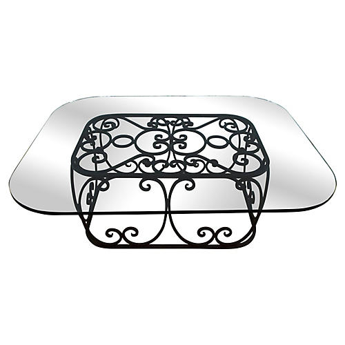 Italian Iron & Glass Coffee Table
