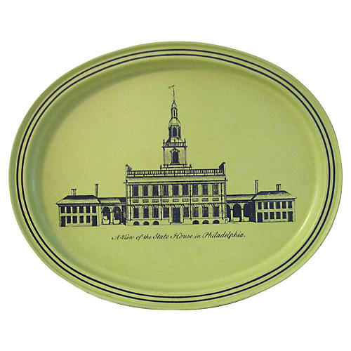 State House of Philadelphia Metal Tray