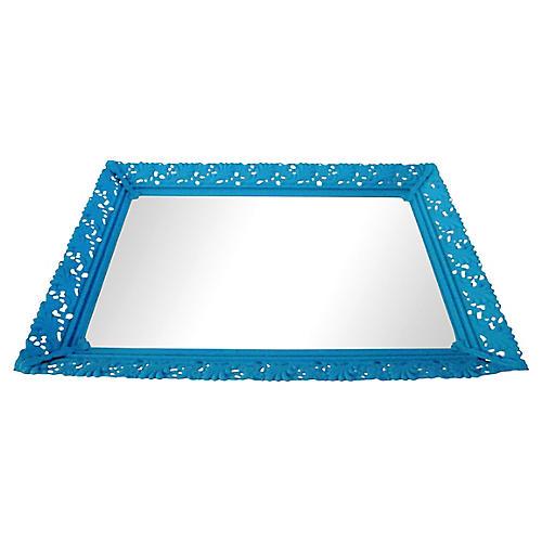 Midcentury Aqua Vanity Tray