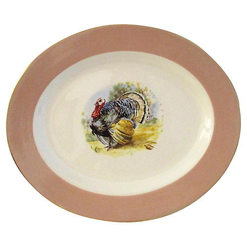 Midcentury Tom Turkey Platter