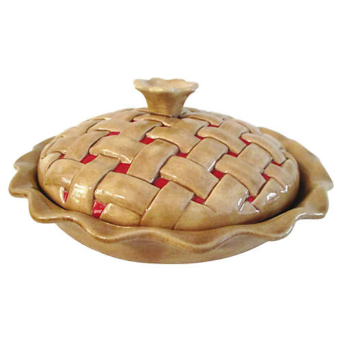 Ceramic Lidded Pie Keeper