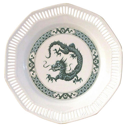 Green Dragon Reticulated Display Plate