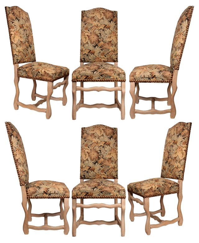 Louis XIV-Style Dining Chairs,  S/6