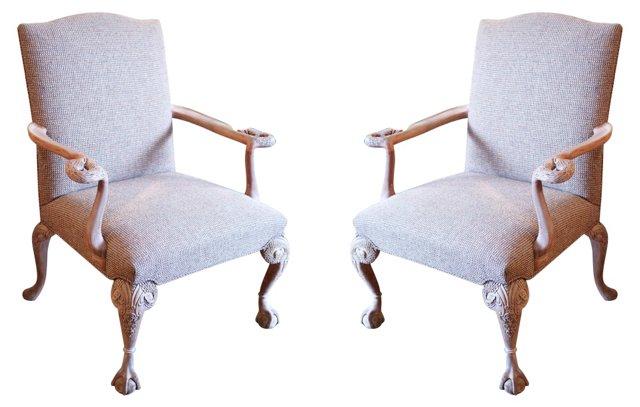 English Armchairs,  Pair