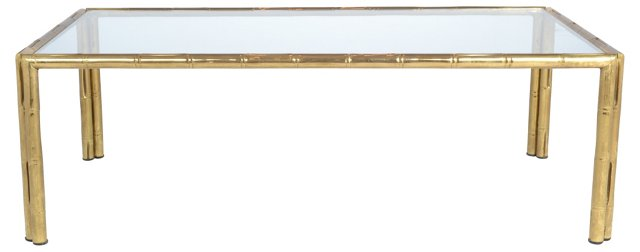 French Maison Bagues Brass Coffee Table