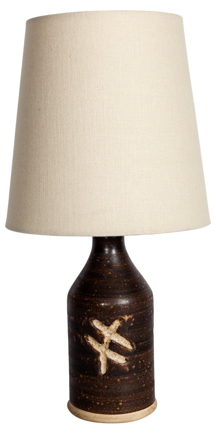 Danish Studio Pottery Lamp