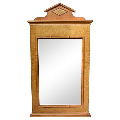 Baker Faux-Bamboo Mirror