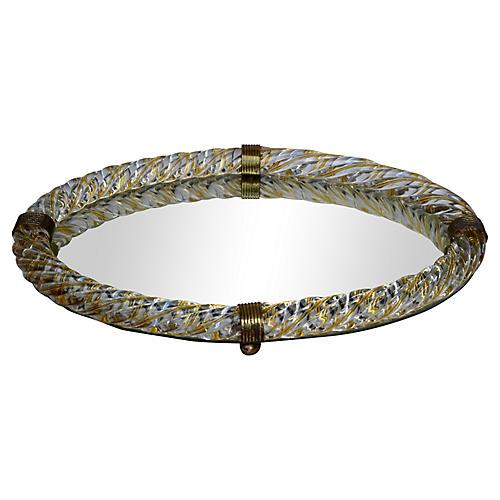 Venini Murano Glass Rope Vanity Tray