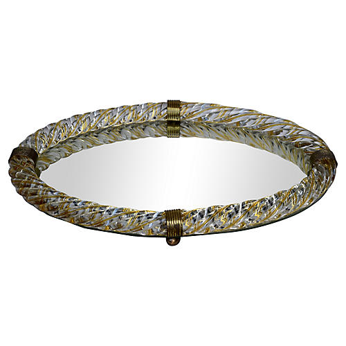 Venini Murano Glass Rope Vanity Tray