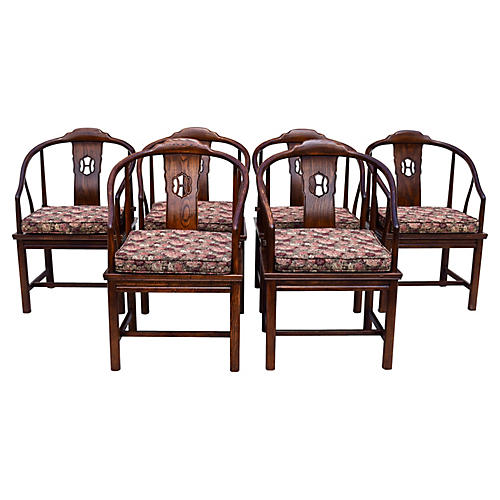 Henredon Chinoiserie Dining Chairs, S/6