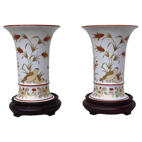 Porcelain Vases, Pair