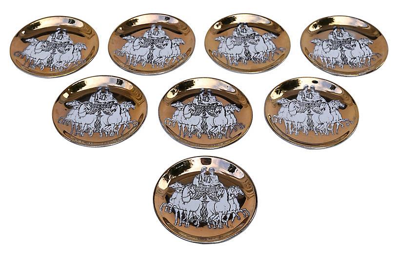 Fornasetti Roman Charriot Coasters, S/8