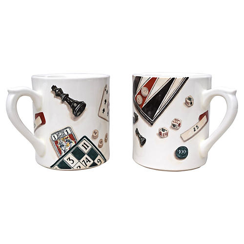 French Gaming Mugs, S/2