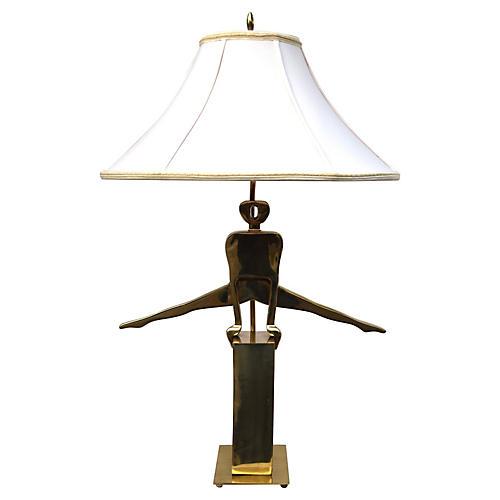 Brass Gymnast Lamp by Dolbi Cashier