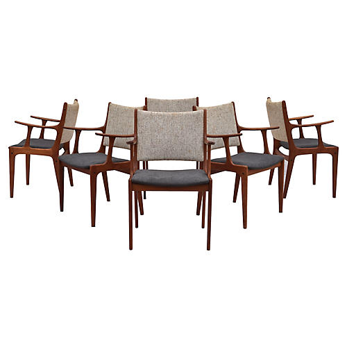 Johannes Andersen Dining Chairs, S/6
