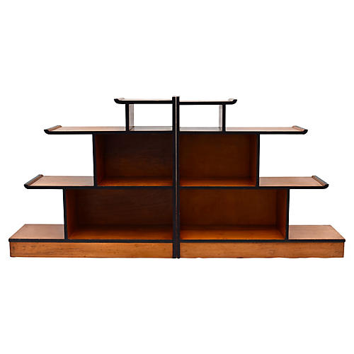 James Mont-Style Stepped Shelves, S/2