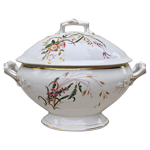 French Floral Soup Tureen