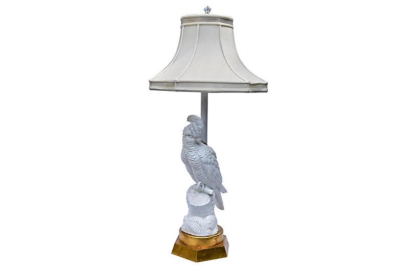 Blanc de Chine Cockatoo Table Lamp