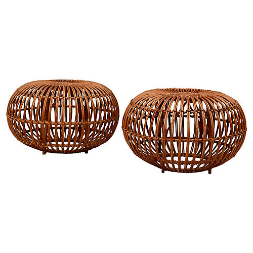 Franco Albini Ottomans, Pair