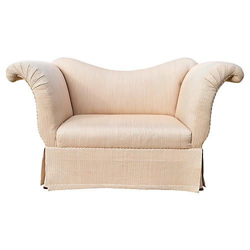 Baker Scroll-Arm Settee