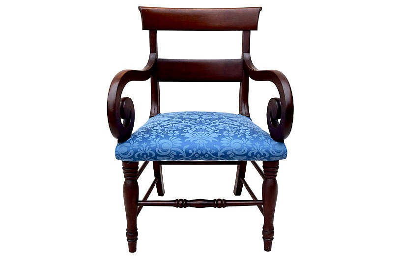 American Empire Regency Armchair
