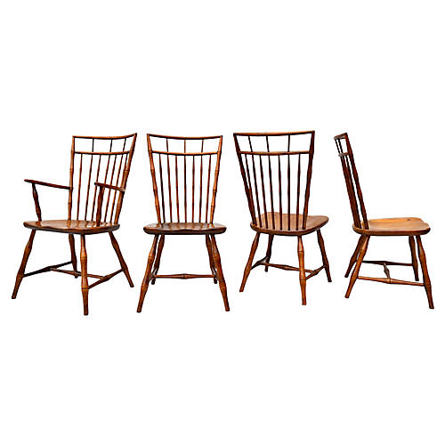 1960's Birdcage Windsor Chairs S/4