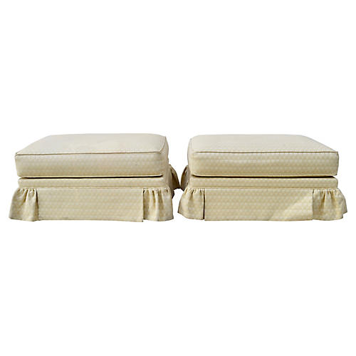 Sherrill Furniture Ottomans on Casters