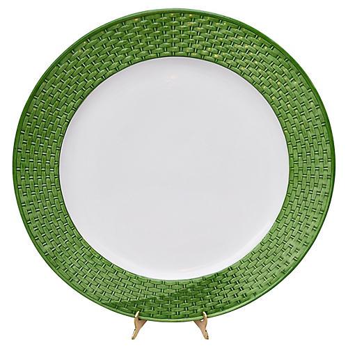 Tiffany & Co. Green Basketweave Platter