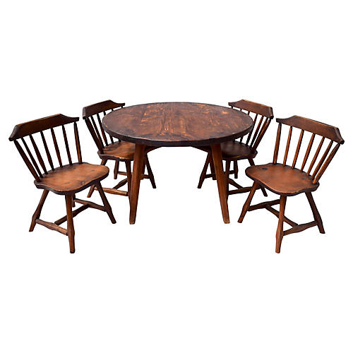 Hunt Farmhouse Dining Table & Chairs