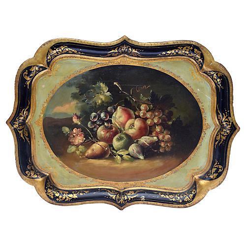 Florentine Gilt-Tole Fruit Tray
