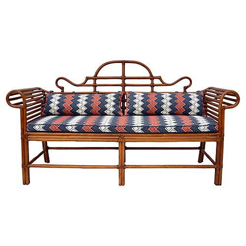 Lane Bamboo Caned Sofa