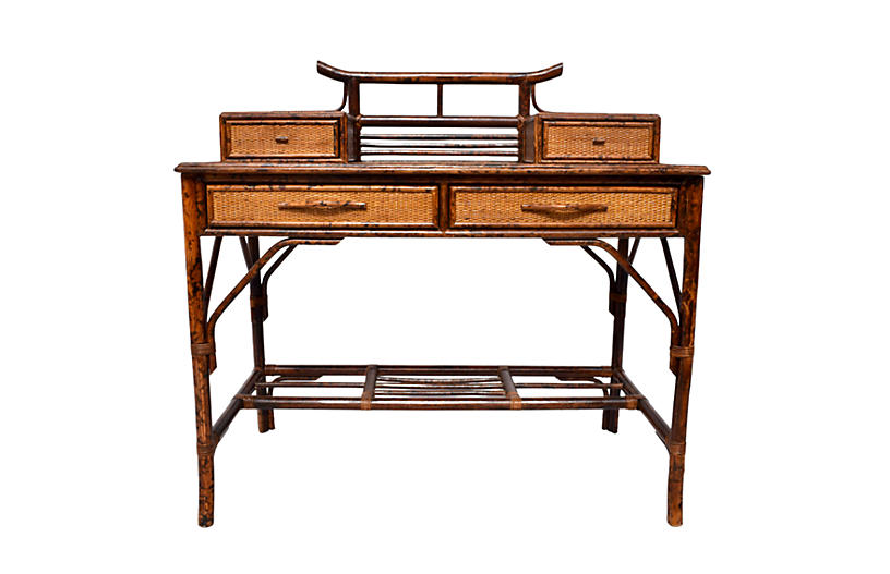 British Colonial lBamboo Desk & Chair