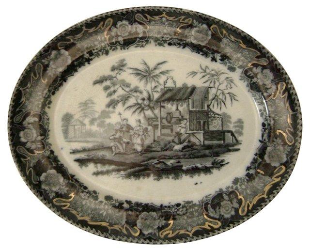 Antique Transferware Platters, Pair