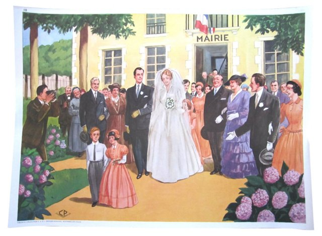 French Wedding Poster
