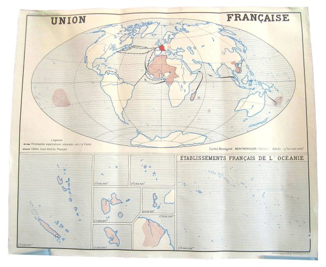 Two-Sided French World Map