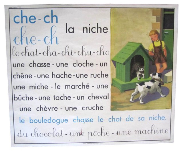 French Dog House Poster