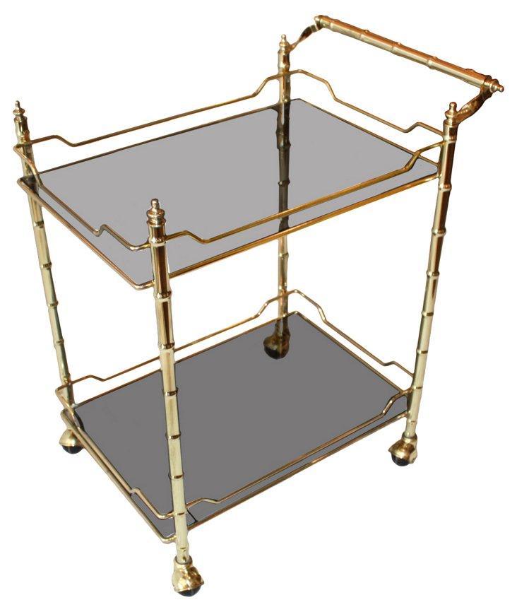 Brass Cocktail  Cart