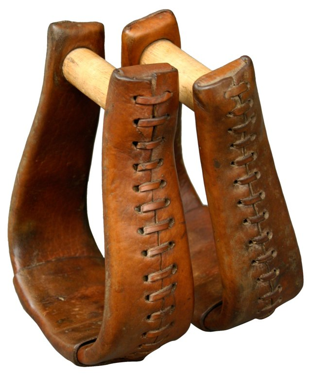 Leather Stirrups, Pair