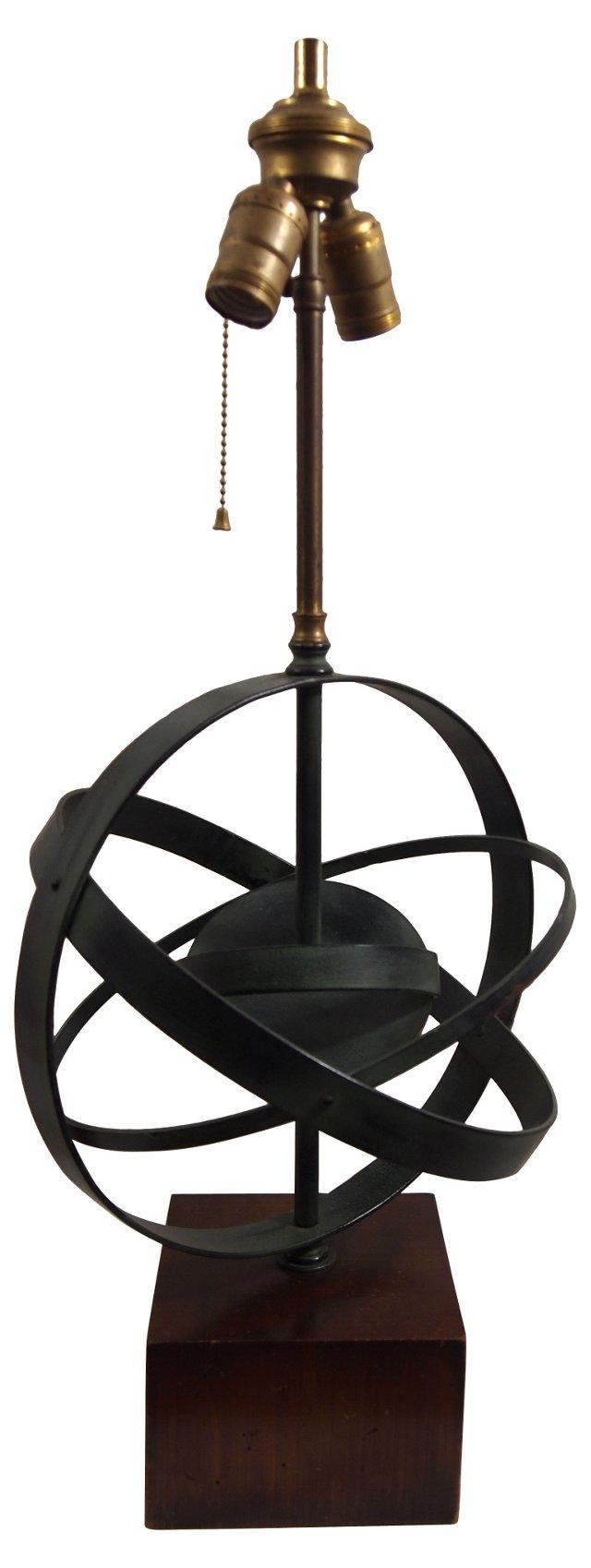 Midcentury Armillary Sphere Lamp