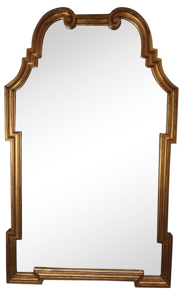 Scrolled  Giltwood Mirror