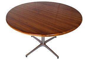 Round Midcentury Center Table*