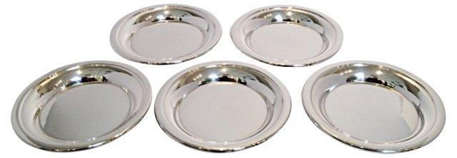 Silverplated B. Wiskemann Coasters, S/5