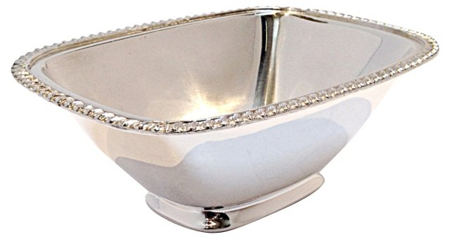 Crown & Shield Silverplate Catchall