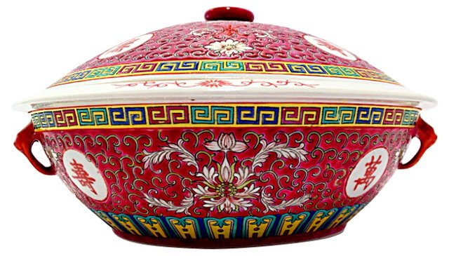 Chinese Famille Rose  Tureen