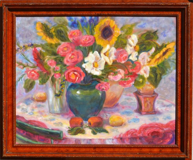 Floral Still Life by Mary Hartman