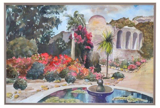 Mediterranean Garden by E. Chamberlin
