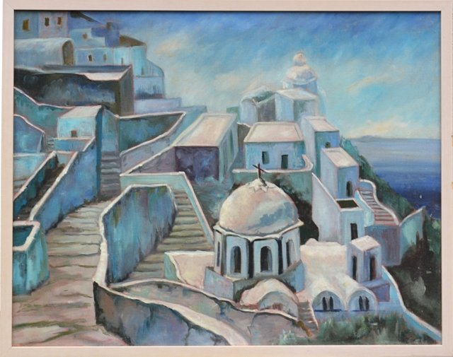 Santorini, Greece by Barrie Christiansen