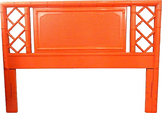 Coral Faux-Bamboo Headboard, Queen