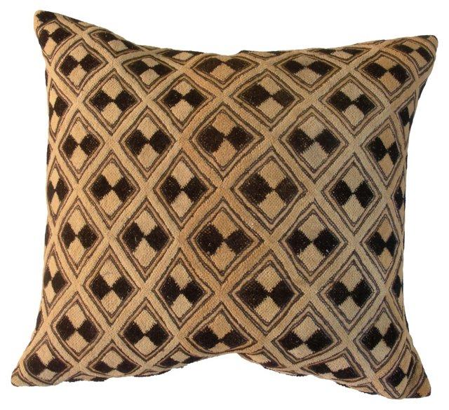 Oversize African Kuba Pillow