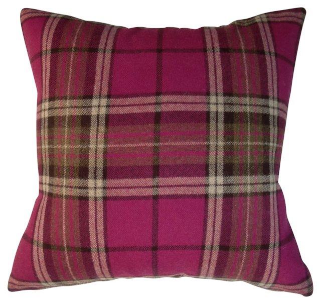 Pink Scottish Plaid Pillow